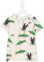 Mini Rodini Insects T-shirt - kids - Organic Cotton/Spandex/Elastane - 9 yrs