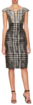 Carolina Herrera Printed Cap Sleeve Day Dress