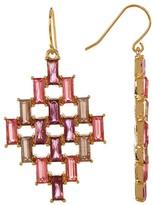 Carolee Baguette Kite Drop Earrings
