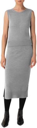 Akris Punto Sleeveless Wool-Cashmere Midi Dress