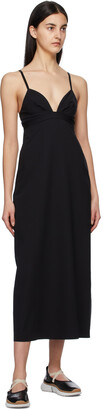 Eres Black Silhouette Mid-Length Dress