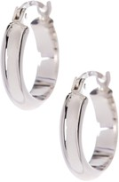 Candela 14K White Gold Half Round Hoop Earrings