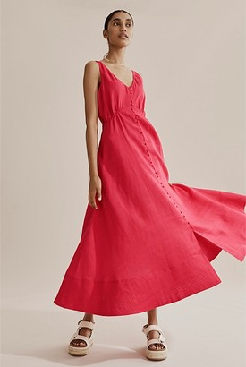 Country Road Linen Midi Dress