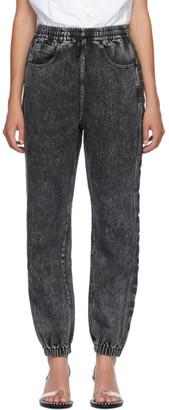 Alexander Wang Black Puff Logo Jeans