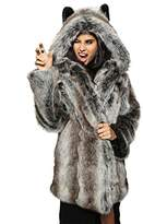 Spirit Hoods Authentic Grey Wolf Faux Fur SpiritHoods Coat