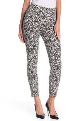 Seven7 High Rise Leopard Print Skinny Jeans