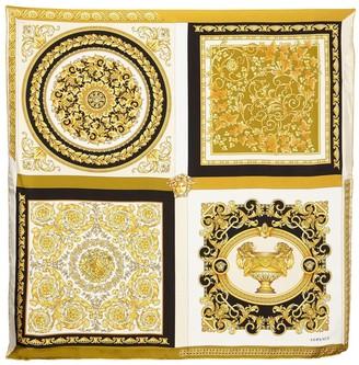 Versace Printed Silk Twill Scarf