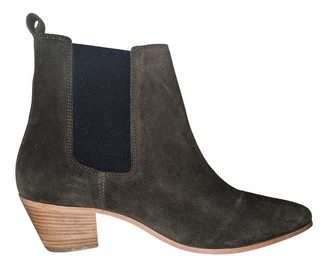 IRO Fall Winter 2019 Green Suede Ankle boots