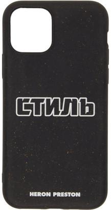 Heron Preston Black Style iPhone 11 Pro Case