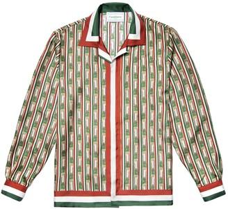 Casablanca Silk Printed Button Down Shirt Italia Columns