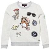 Juicy Couture Cream Fox Applique Sweatshirt