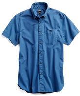 Todd Snyder Short Sleeve Garment Dyed Poplin Shirt