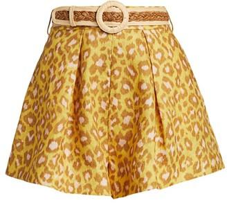 Zimmermann Carnaby Leopard Print Shorts