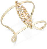 INC International Concepts Gold-Tone Pink Stone Cuff Bracelet, Created for Macy's
