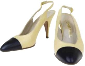 Chanel Slingback Beige Leather Heels