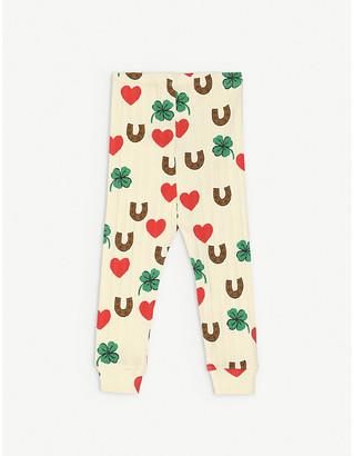 Mini Rodini Clover-print long-sleeved stretch-organic cotton leggings 1-18 months