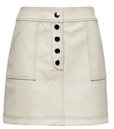Dorothy Perkins Womens Lola Skye Ecru Stich Mini Skirt