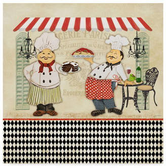 "Jean Plout 'French Cafe Chefs' Canvas Art - 14"" x 14"""