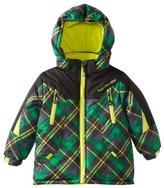 Rugged Bear Little Boys' Plaid Ski Jacket