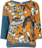 Jigsaw Nordic Floral Border Silk Front Top