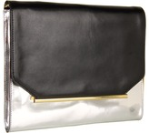 Vince Camuto Sabin Clutch (Black/Silver) - Bags and Luggage