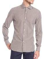 Kiton Shadow Check Cotton Sportshirt