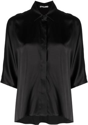 Styland Silk-Mix T-Shirt Blouse