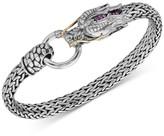 Effy Certified Ruby Dragon Statement Bracelet (1/6 ct. t.w.) in Sterling Silver & 14k Gold-Plate