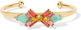 Elizabeth Cole Sagher gold-plated stone cuff