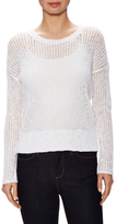 James Perse Crewneck Open Knit Sweater