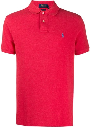 Polo Ralph Lauren Plain Logo-Embroidered Polo Shirt