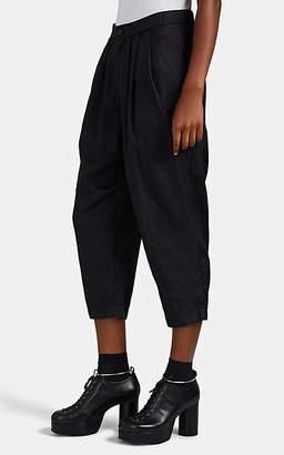 Comme des Garcons Women's Tech-Twill Drop-Rise Crop Pants - Black
