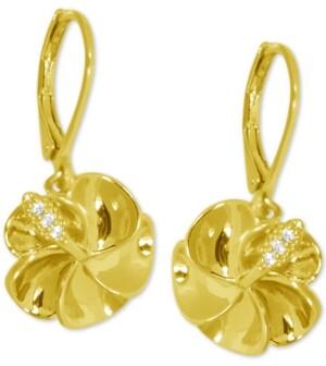 Kona Bay Flower Drop Earrings in Gold-Plate