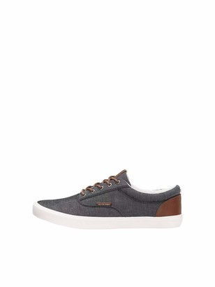Jack and Jones Men's Jfwvision Classic Chambray Anthraci Noos Low-Top Sneakers