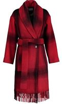 Alexander Wang Fringed Checked Flannel Coat
