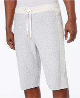 Sean John Men's Heathered Colorblocked Terry 12and#034; Shorts
