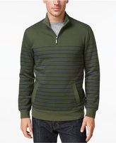 Club Room Men's Striped Quarter Zip Fleece, Only At Macy's