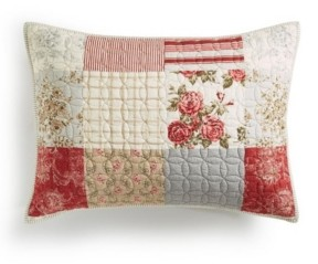 Martha Stewart Collection Farmstead Floral Patchwork Quilted King Sham, Created for Macy's