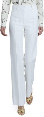 Victoria Beckham High-Waist Slim-Leg Wool Trousers