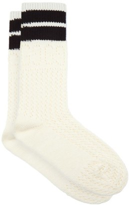 Gucci GG-eyelet Cotton-blend Socks - Ivory