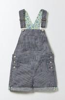 Toddler Girl's Mini Boden Engineer Stripe Short Dungarees