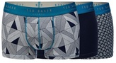Ted Baker Pack Of Three Navy Blue Fitted Boxers