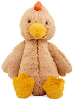 Jellycat Medium Bashful Rooster Plush Animal, Tan
