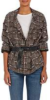 TOMORROWLAND Women's Cotton-Blend Tweed Belted Jacket