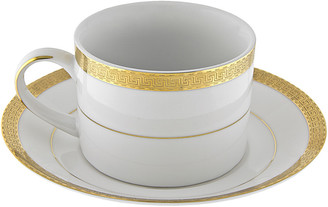 Ten Strawberry Street Set Of Six Luxor Gold Can Cup/Saucers