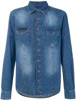 Philipp Plein washed denim shirt
