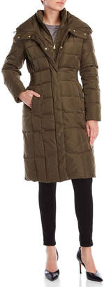 Cole Haan Hooded Down Bib Coat