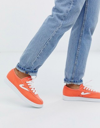Tretorn lace up trainers in orange