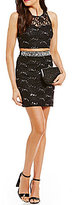 Xtraordinary Sequin Embellished Two-Piece Lace Dress