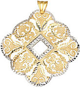 Lord & Taylor 14 Kt. Yellow and White Gold Filigree Pendant